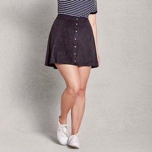Dresses & Skirts - Black Suede Mini Skirt